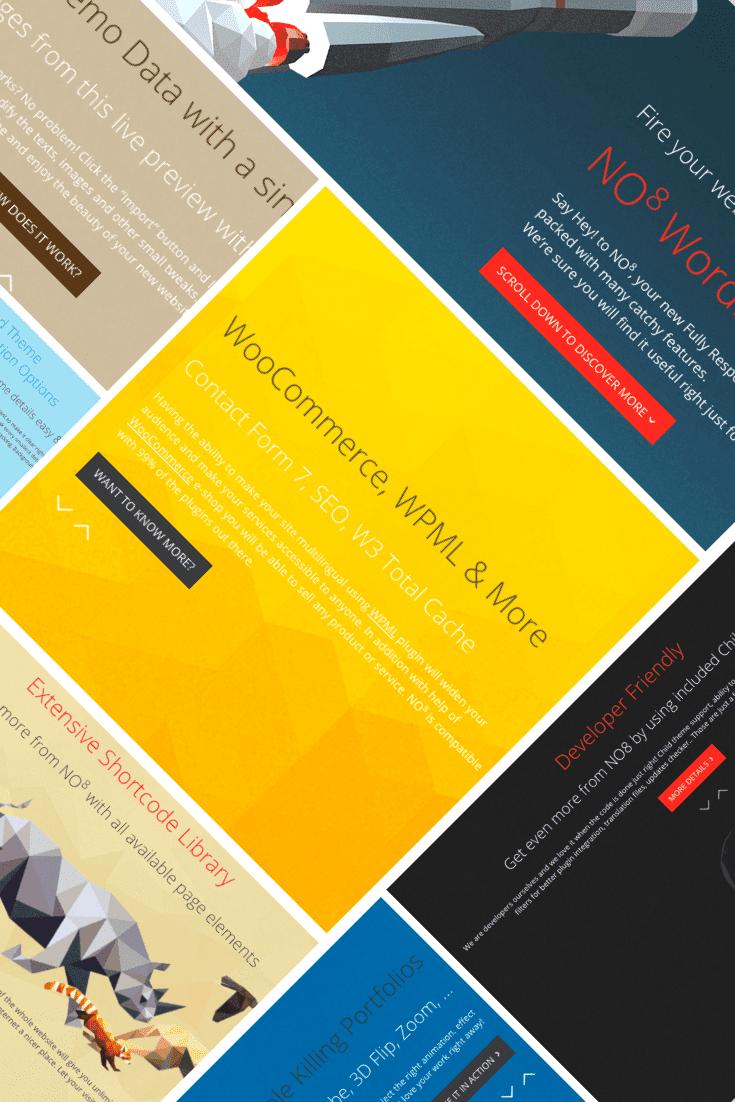NO8 WordPress Theme Collage.