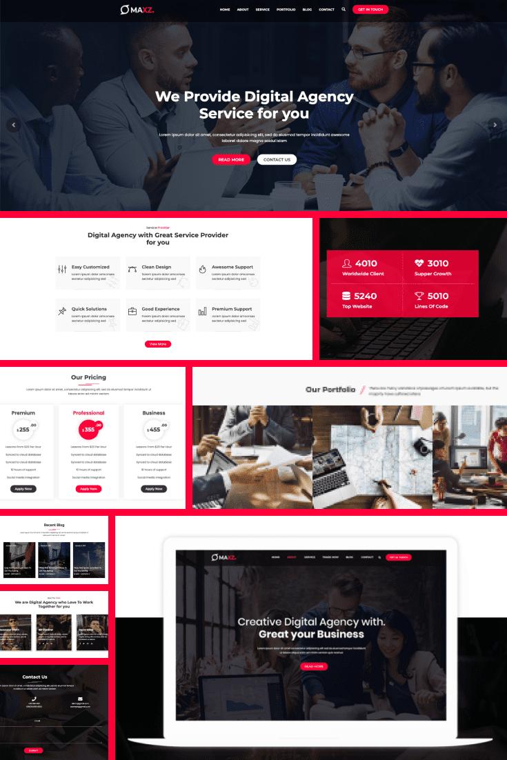 Wordpress Theme Maxz. Collage.