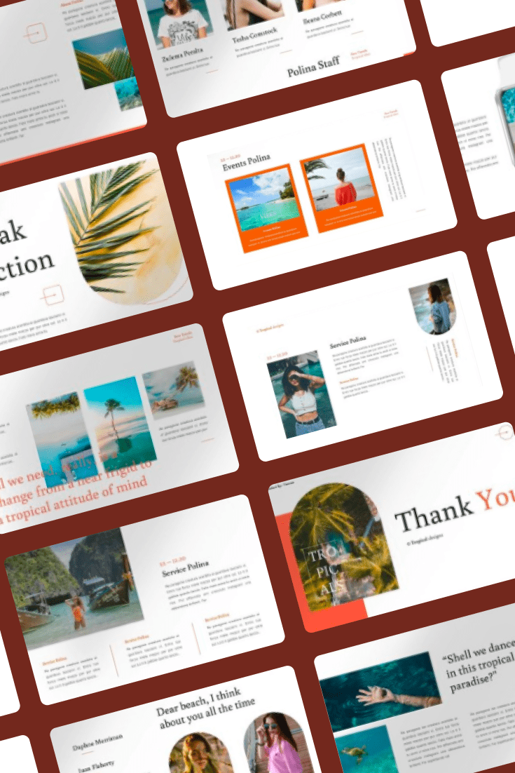Polina - Creative PowerPoint. Collage Image.