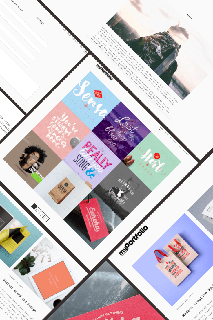 myPortfolio WordPress Theme. Collage.