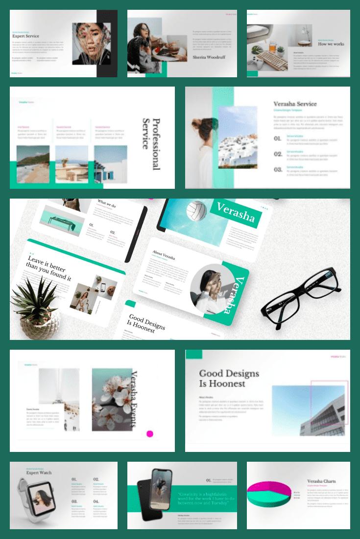Verasha - Creative PowerPoint. Collage Image.