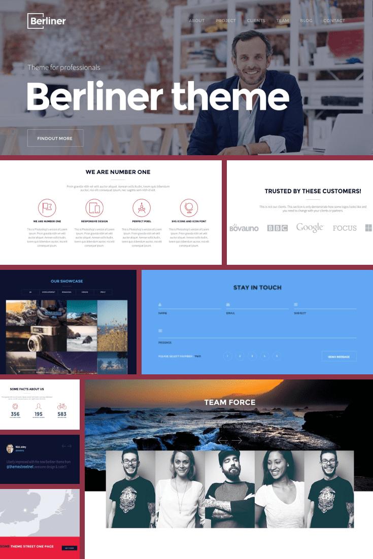 Wordpress Theme BERLINER. Collage.