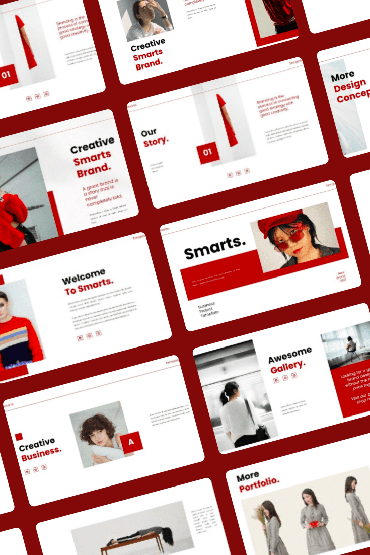 Smarts PowerPoint Template. Collage Image.