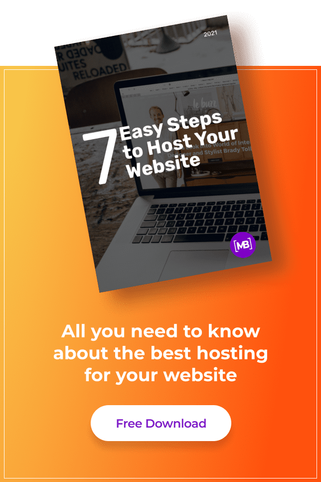 Pinterest Image. Free White Paper: 7 Easy Steps to Host Your Website.