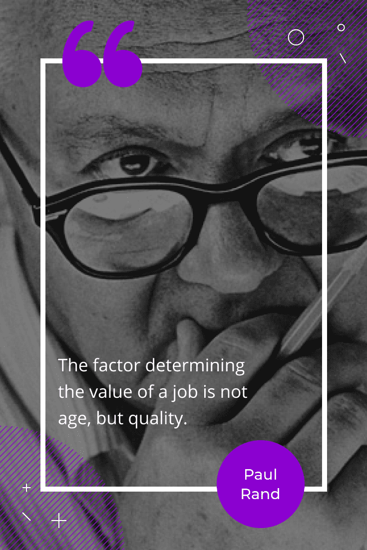 """The factor determining the value of a job is not age, but quality."""