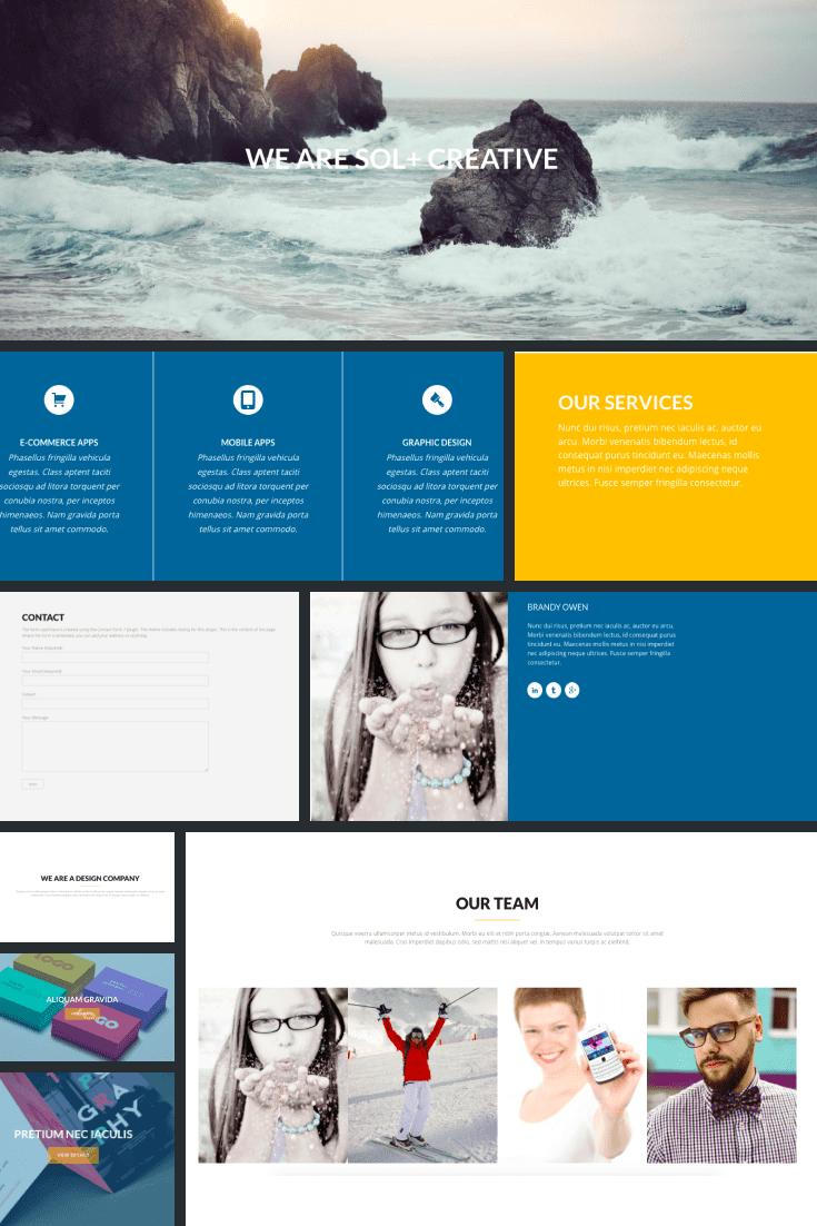 Wordpress Theme Sol. Collage.