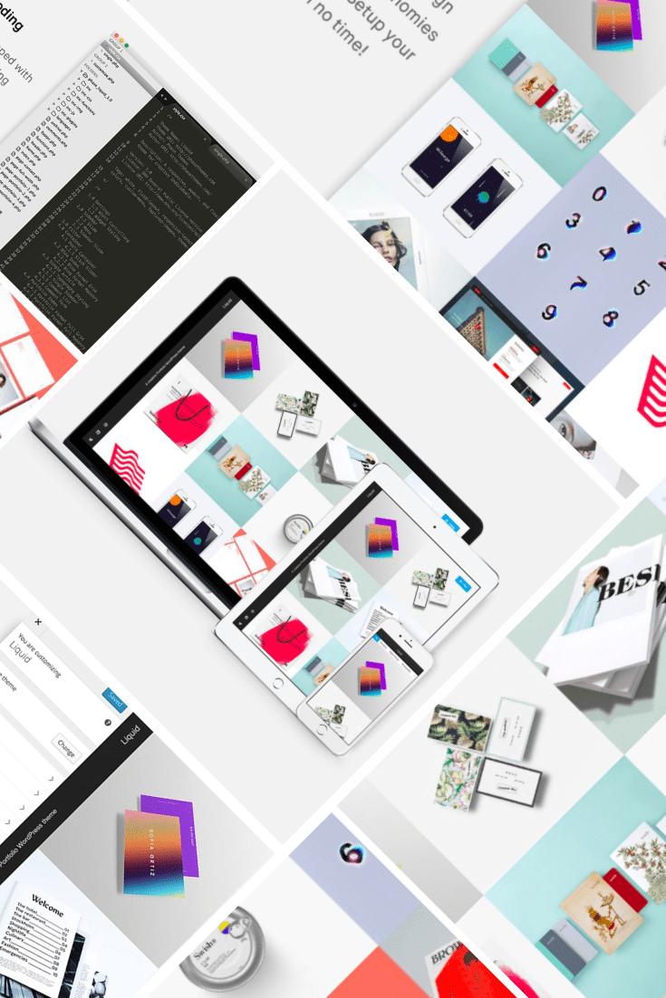 Prime - Modelling WordPress Theme. Collage