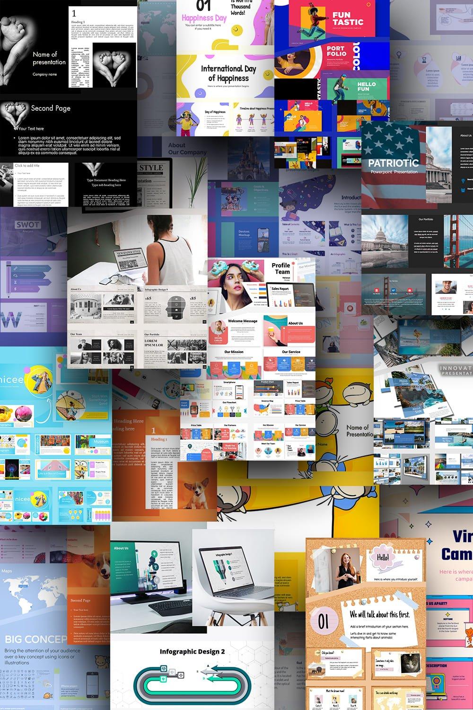 Cute Google Slide Themes. Pinterest Collage.