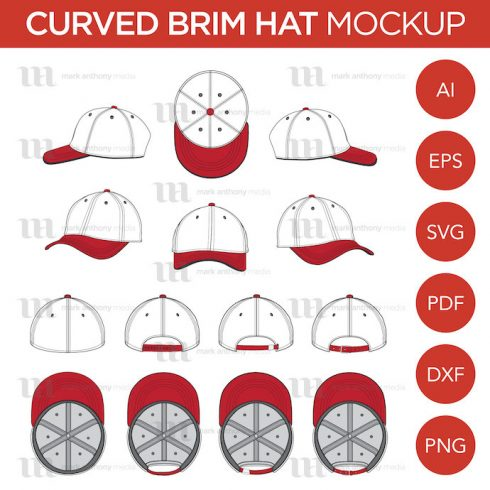 Author - MAM Curved Brim Baseball Cap Template Main 490x490