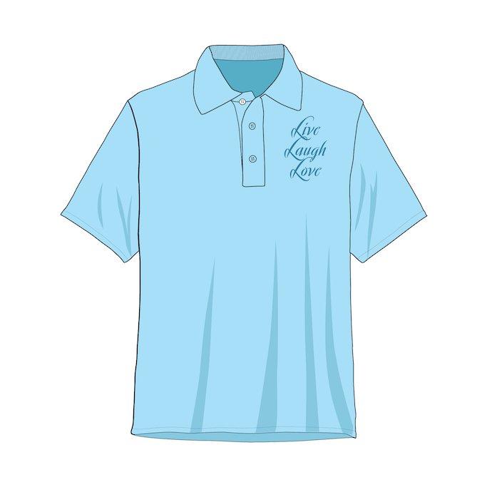 Plain polo shirt with logo.