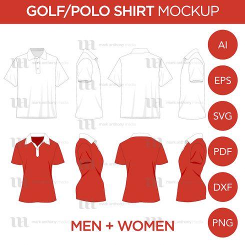 Golf_Polo Shirts Mockup Template Example.