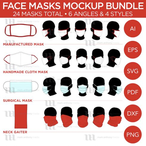 Face Masks & Neck Gaiter Mockup Template