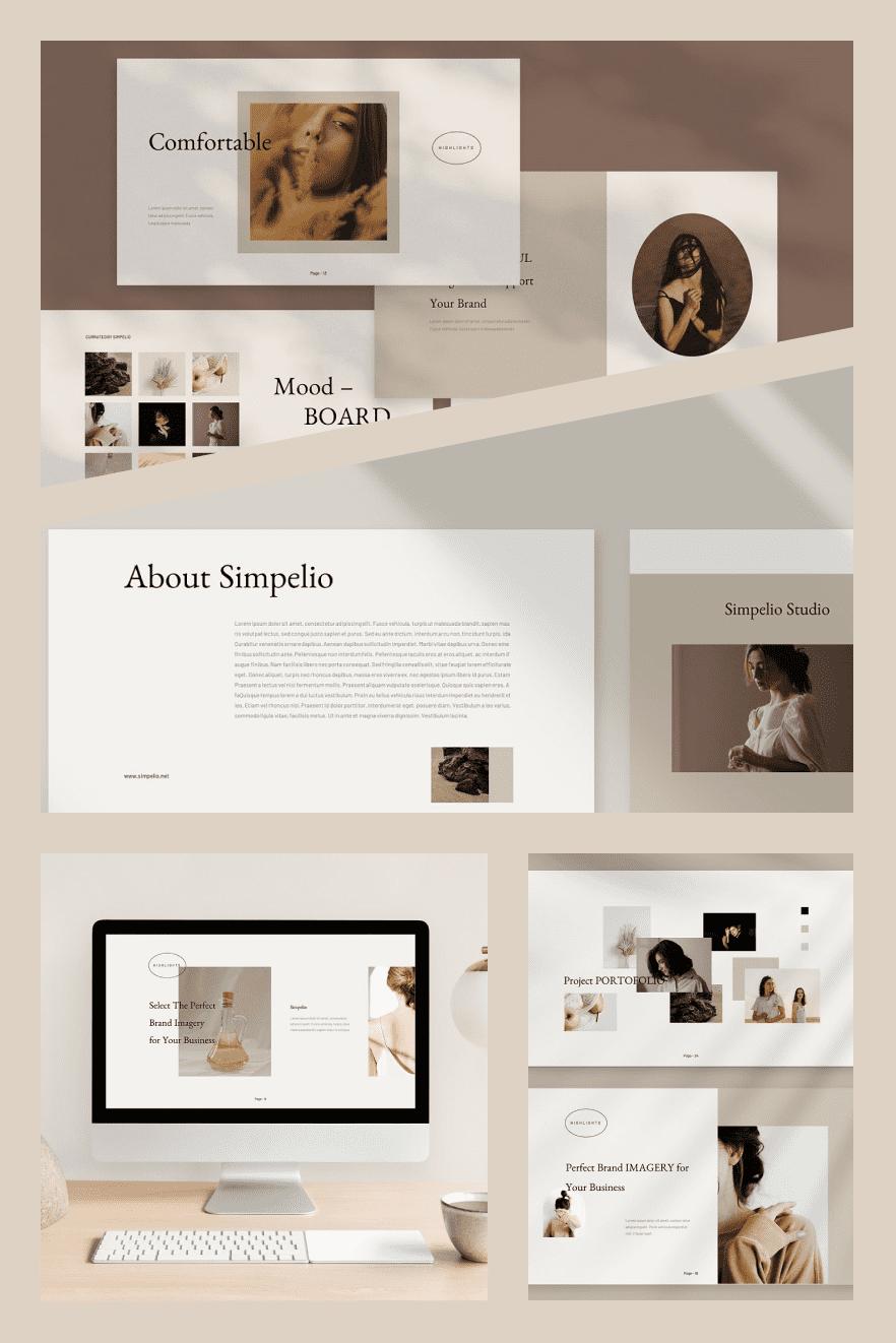 Simpelio PowerPoint. Collage Image.