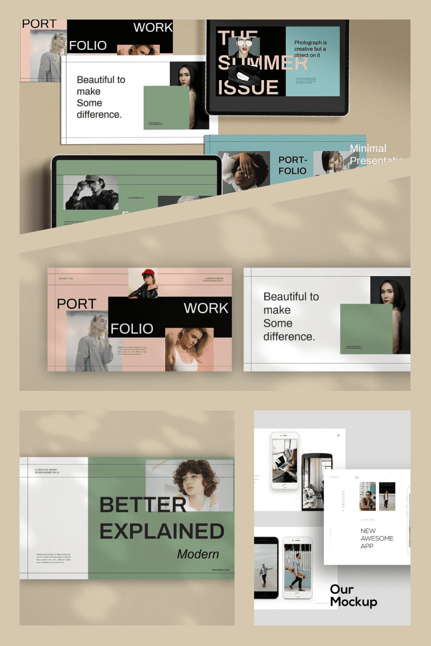 Grounds - Brand PowerPoint. Collage Image.