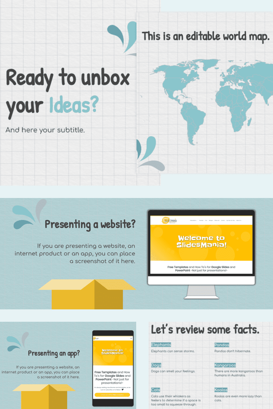 Unbox Your Ideas Template. Collage Image.