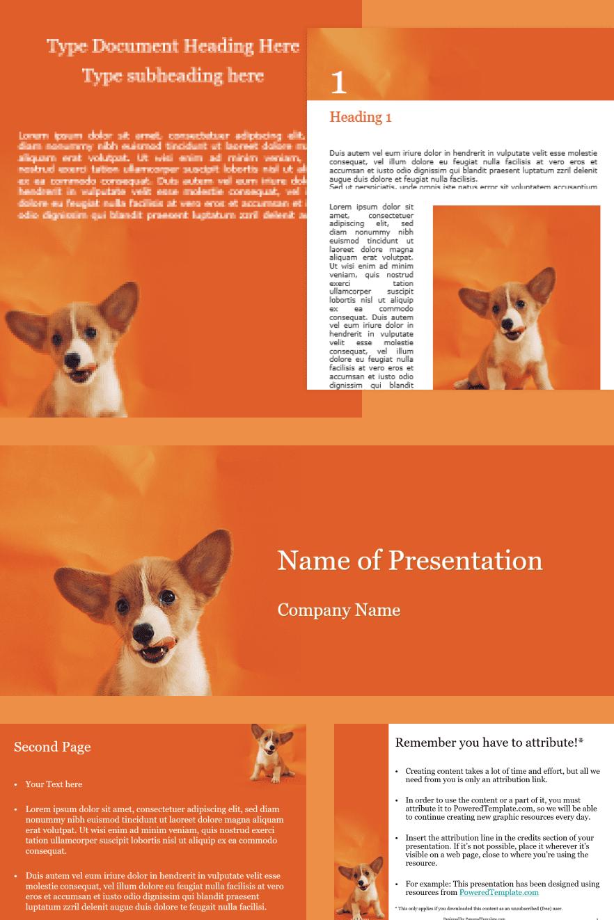 Cute Puppy Portrait. Collage Image.