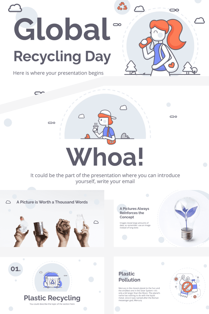 Global Recycling Day. Collage Image.