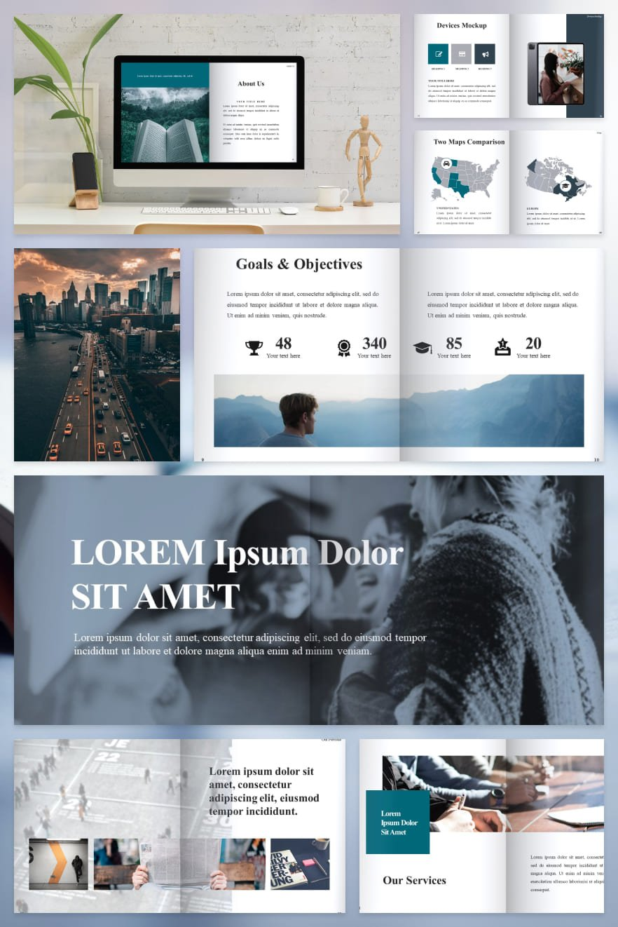 Best Book Templates. Collage Image.
