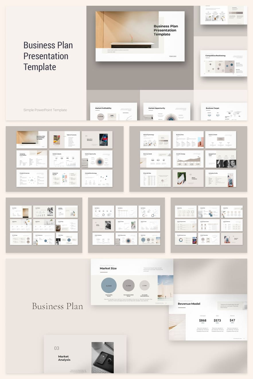 Business Plan. Collage Image.