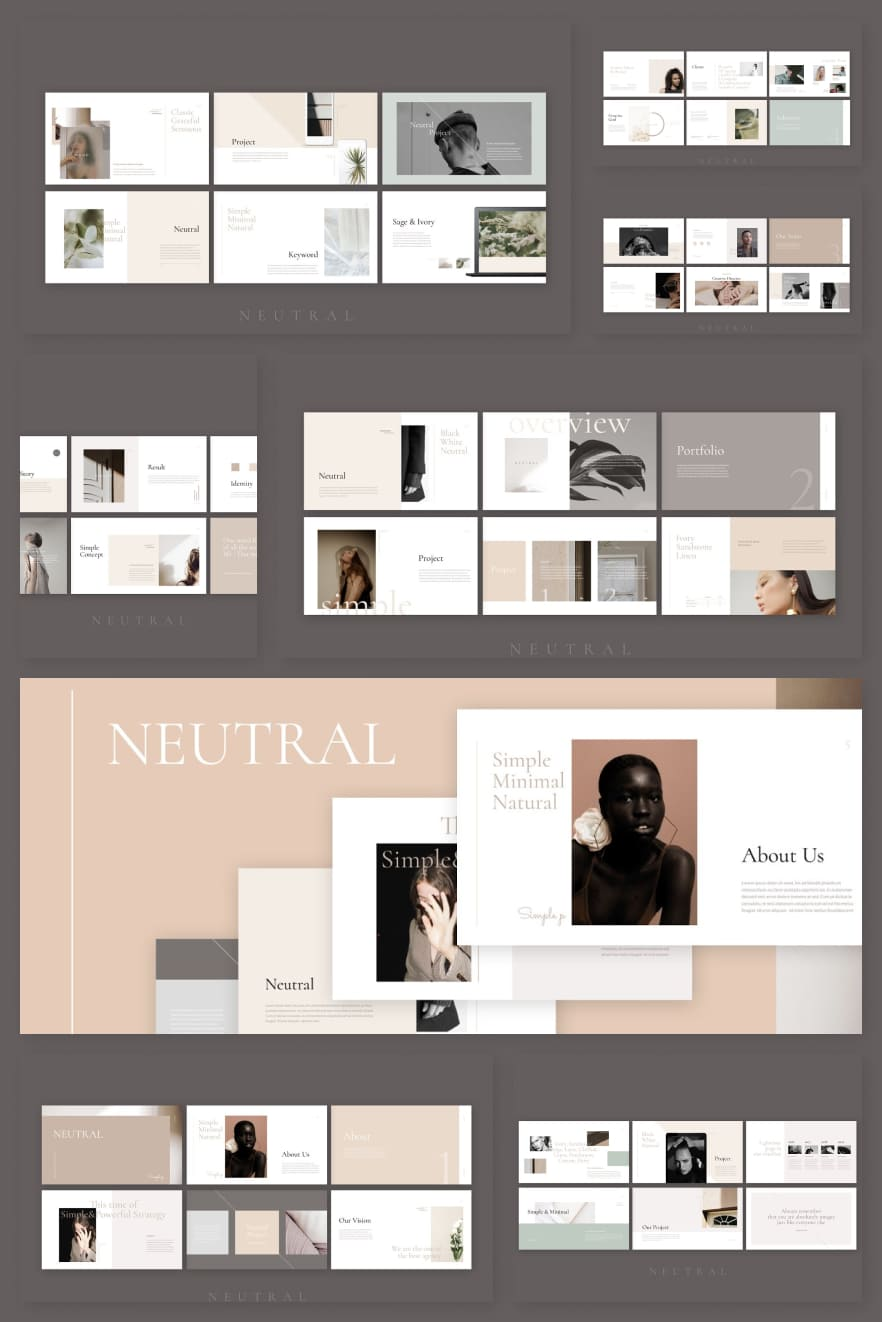 Neutral. Collage Image.