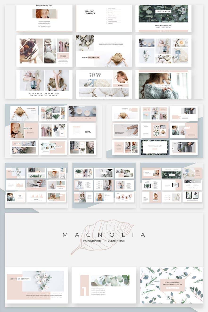 Magnolia. Collage Image.