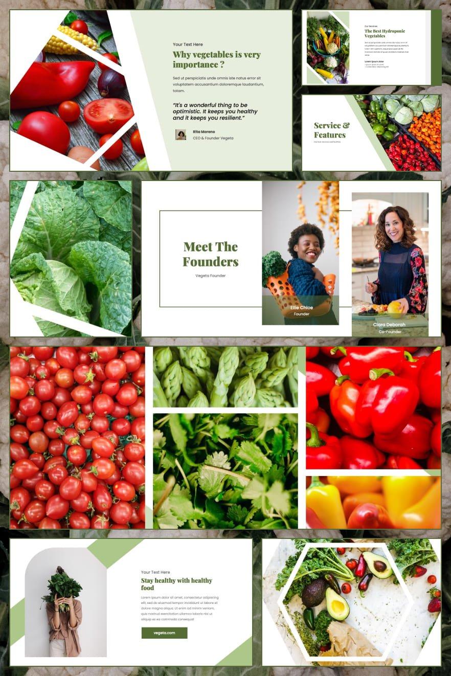 Vegeta - Vegetables by RabbStock. Collage Image.