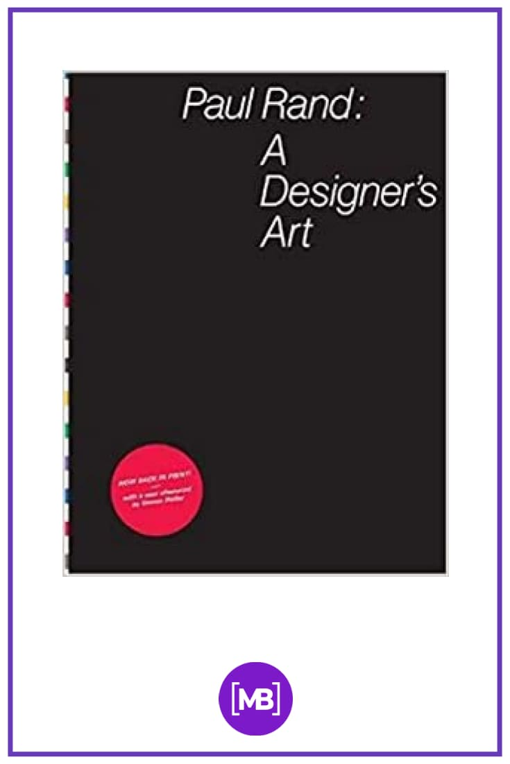 """A Designer's Art"". Cover Book."