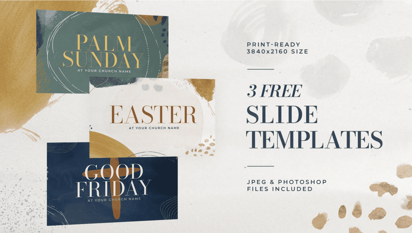 Easter is a big church holiday with certain traditions. This template is created in three different variations for you to choose your Easter style.