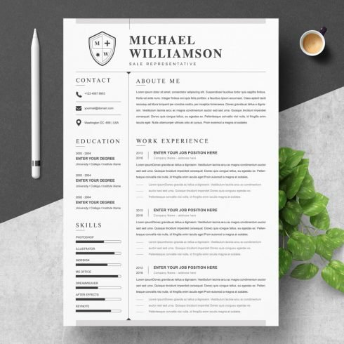 CV Design.