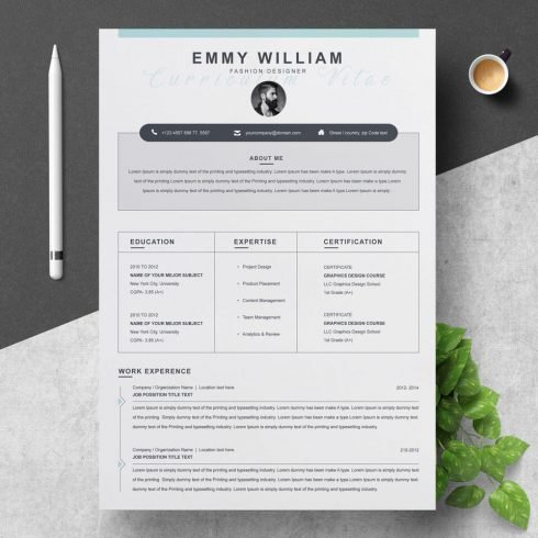 Resume Template cover.