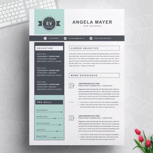 New resume template.