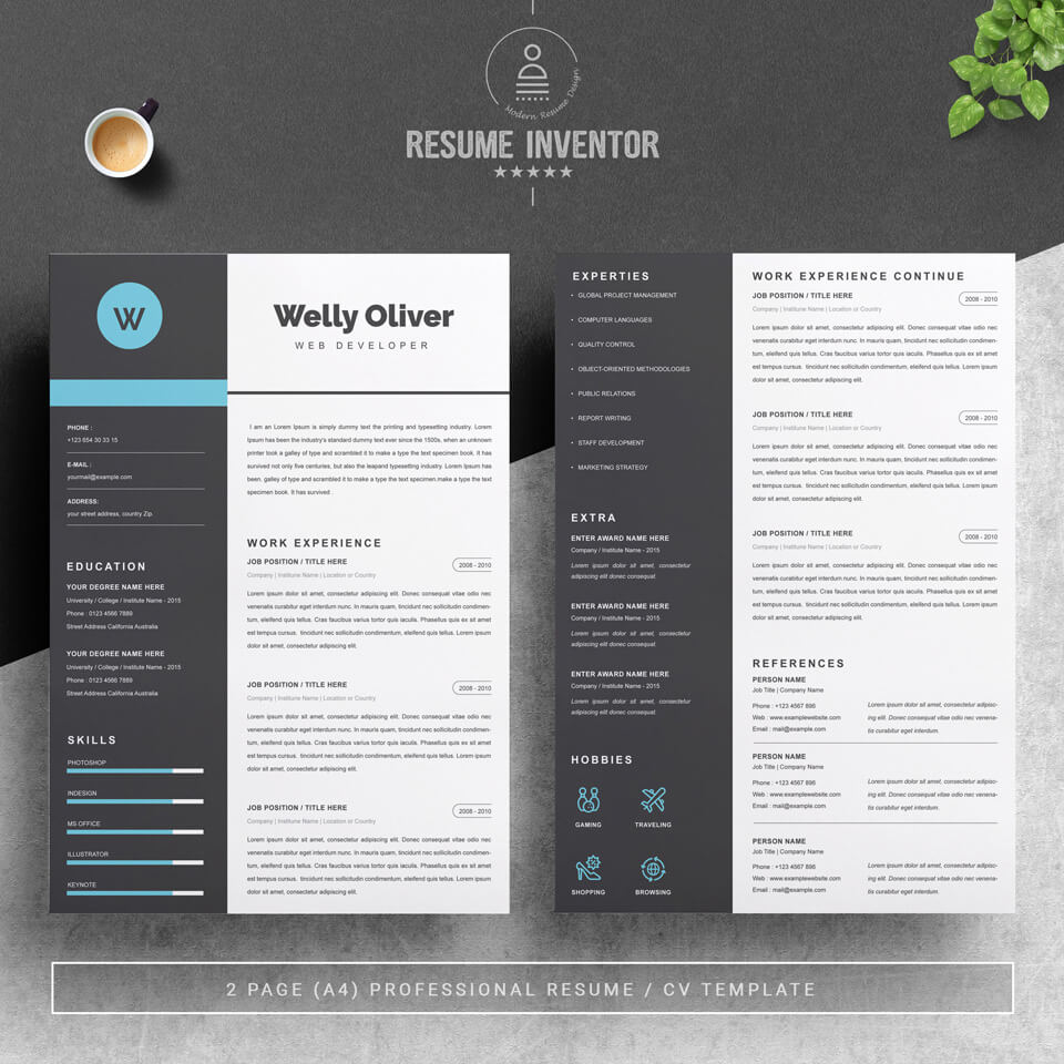 Two pages of resume. Resume Template .