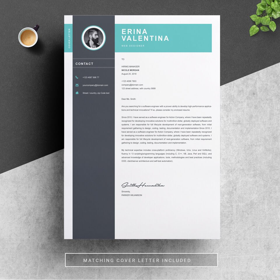 A general look of Resume Academic Cover Letter Template.
