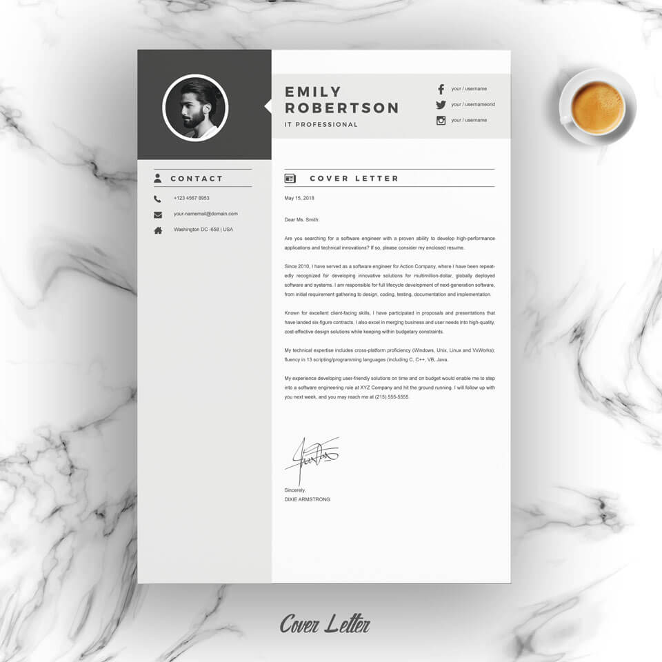 A look of the general Executive Resume Template.