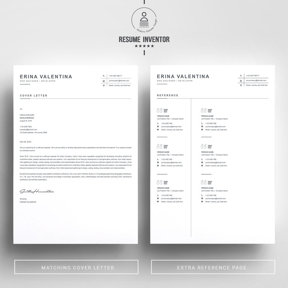 Two pages of this pattern. CV Template.
