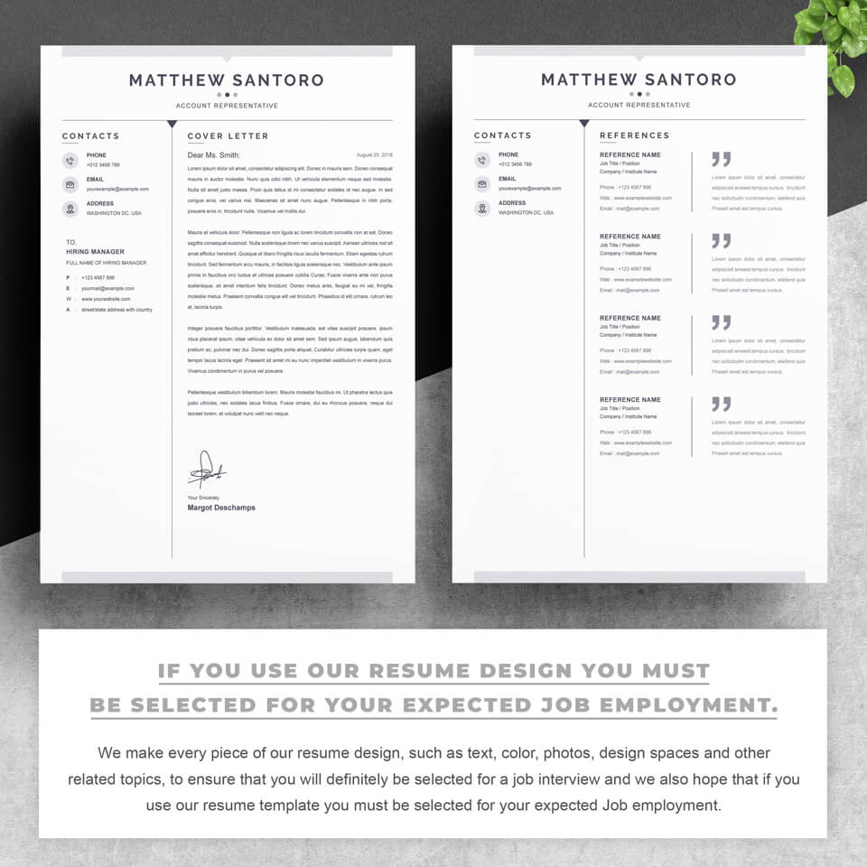 Two pages of resume. Resume Cover Letter Template.