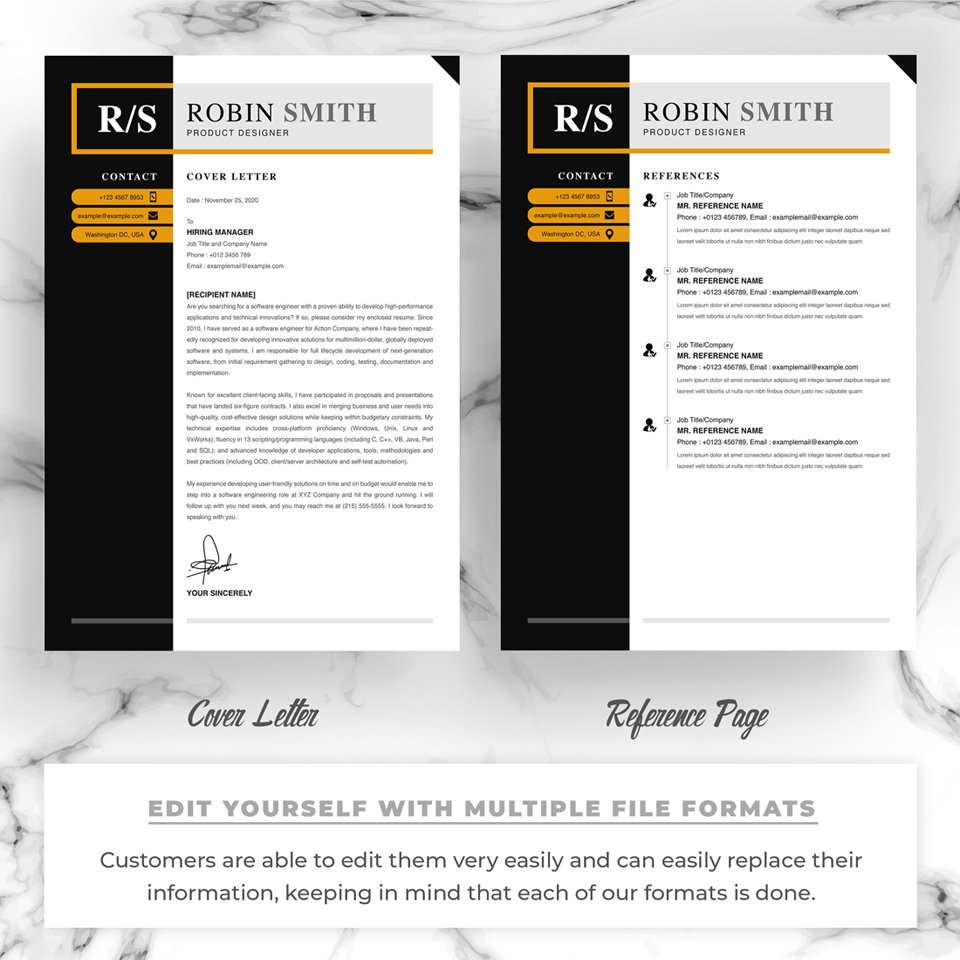 Two pages of resume. Product Designer Resume.