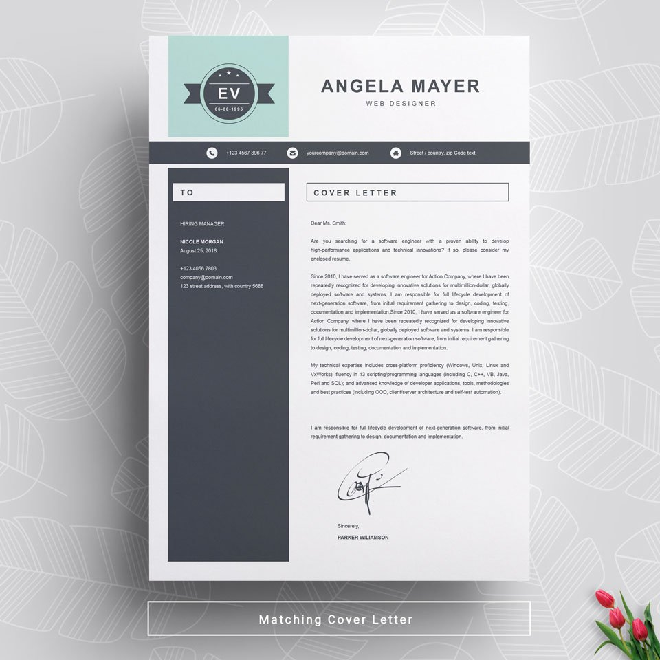 A general view of the template. New Resume Template.