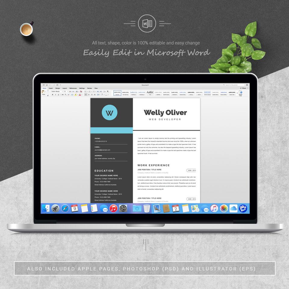 Desktop option of resume. Resume Template .