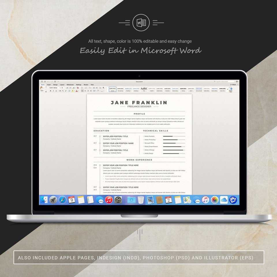 A desktop option. Experienced Freelance Editor Resume Template.