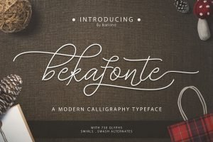 A modern calligraphy font with urban elements.