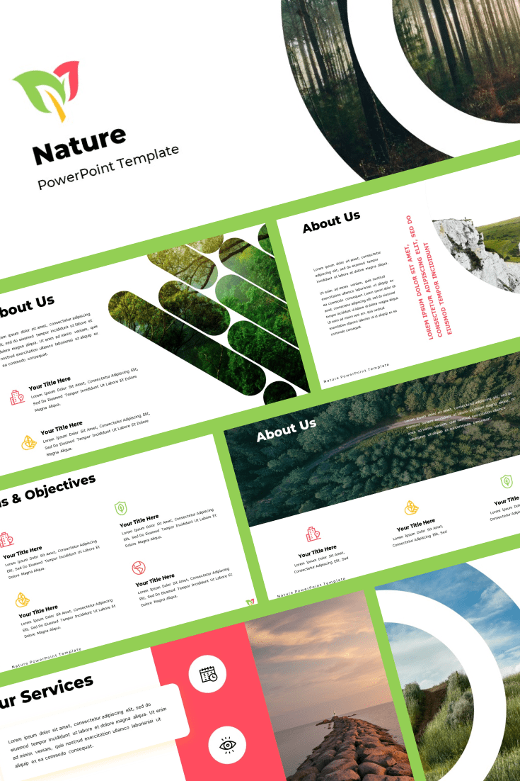 This template inspires with its freshness, greenery and the riot of spring. It will refresh any presentation and fit perfectly with any topic.