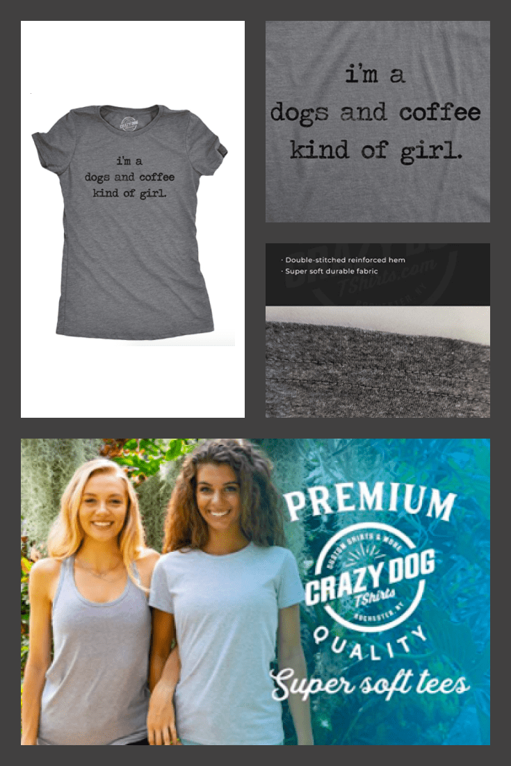 Simple and gray T-shirt, created with a nice and soft fabric.