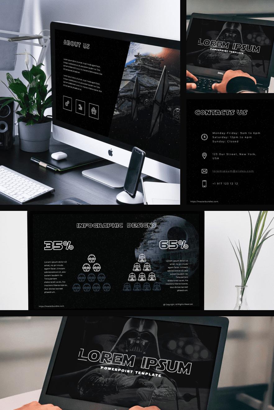 Stylish dark theme featuring Dark Vader.