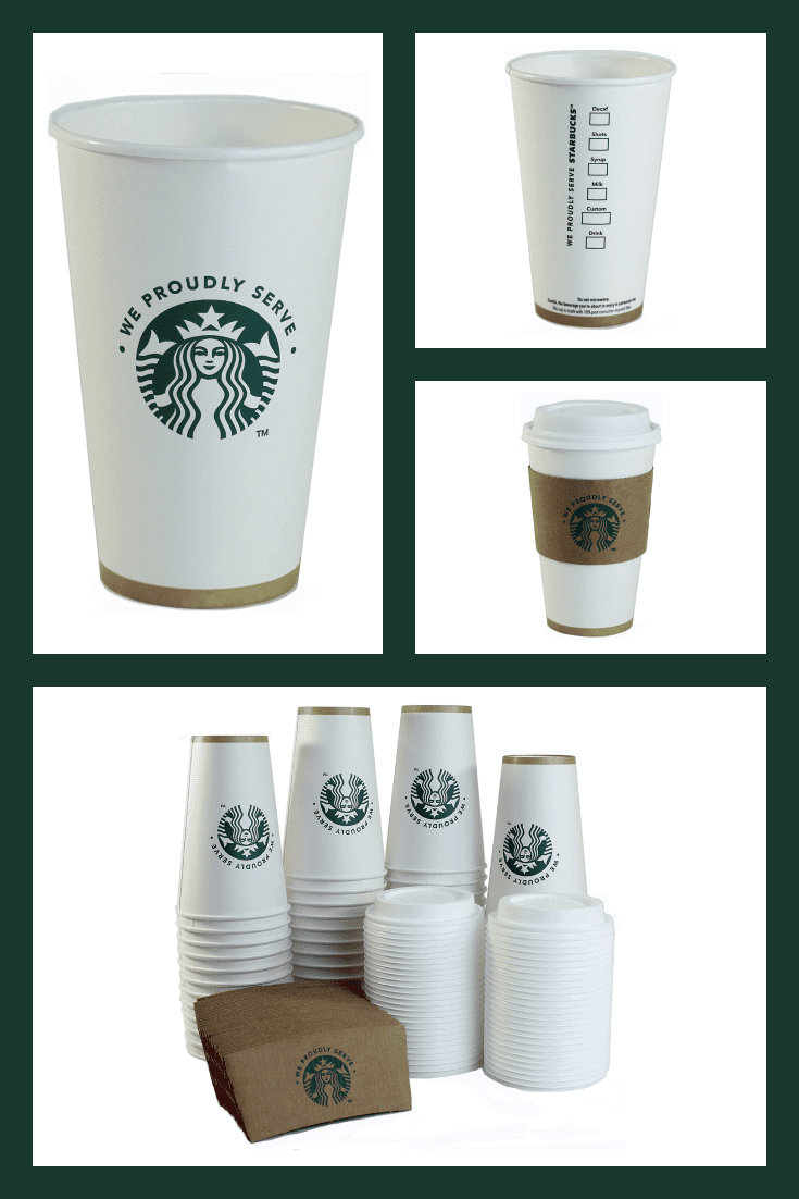 Starbucks white cups are all about quality and conciseness.