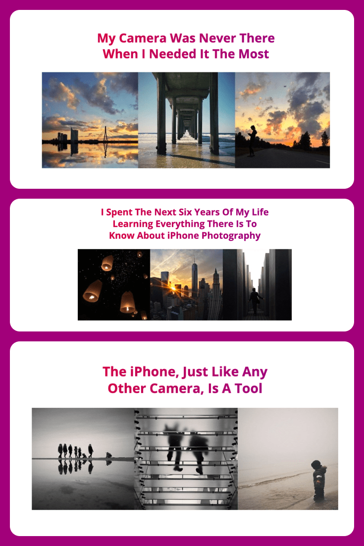 A training course on high-quality iPhone photography.