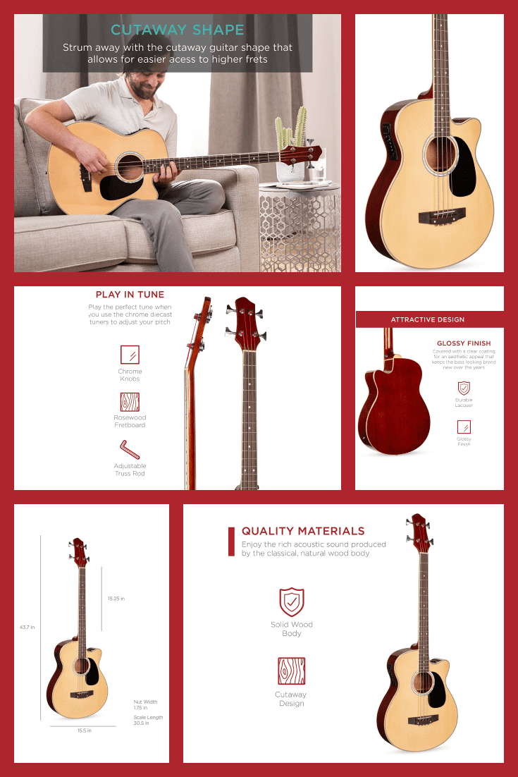 The perfect bass guitar. It is available in three colors and with different functions.