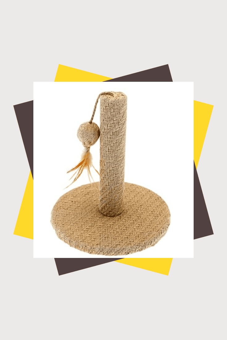 To save the sofa, we recommend purchasing a scratching post for your cat. This scratching post is not only functional, but also stylish, so it will fit into any interior.