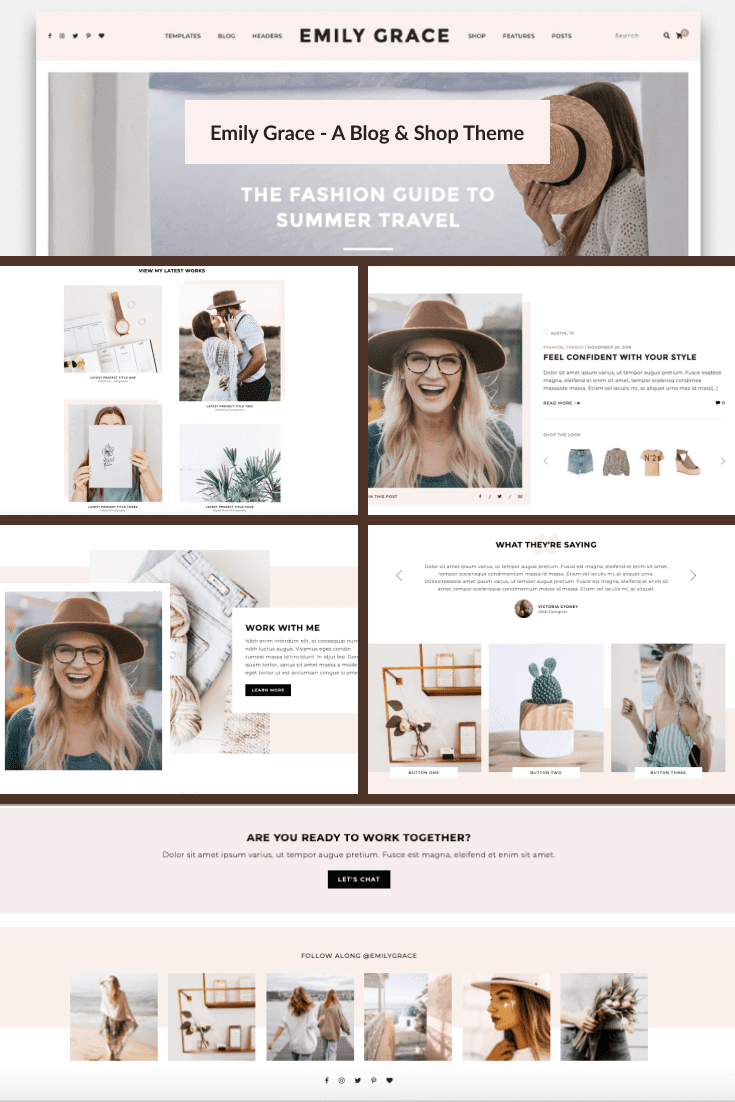 Pastel colors and simple design will a good solution for a personal page or business.