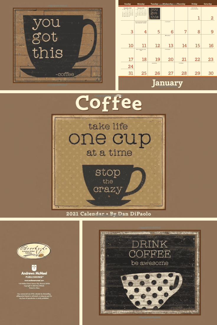 A calendar is a welcome gift. And with a coffee design, it becomes a must-have for coffee lovers.